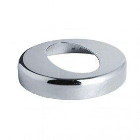 Rose Oval OMP for curve by 45° chrome plated brass 115.321.0