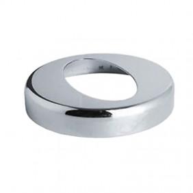 Rosone Ovale OMP per curva da 45° in ottone cromato 115.321.0