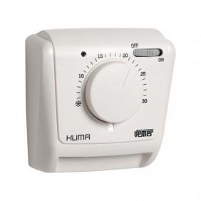 Thermostat mécanique Vemer Klima SI pour montage mural avec membrane gazeuse VE021200