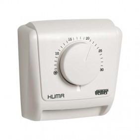 Thermostat mécanique Vemer Klima 3 pour montage mural avec membrane gazeuse VE019600