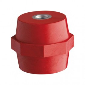 Aislador de Latón Vemer H35 M8 color rojo SA526100