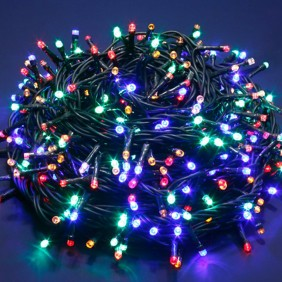 Series Christmas Lights 240 LED Light Multicolor cable dark interior/exterior