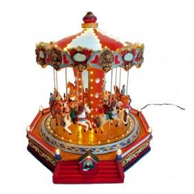 Giostra Carosello di Natale Giocoplast girevole con luce e musica