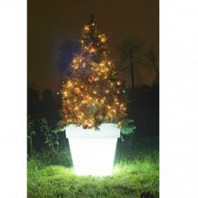 Albero di Natale con Vaso luminoso Wimex a LED RGB altezza 140 cm 4504127