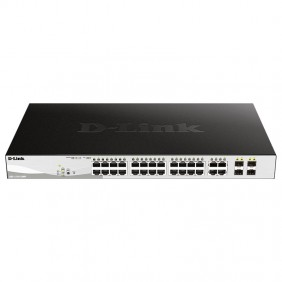 Switch D-link 24 POE ports + 4 ports combo Gigabit GbE/SFP DGS-1210-28MP