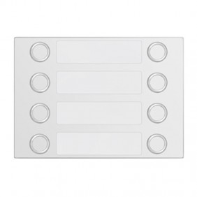 Bezel Urmet Alpha with 8 call Buttons on 2 rows White 1168/28W