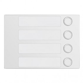 Bezel Urmet Alpha with 4 call Buttons White 1168/14W