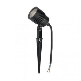 Faretto a LED con puntale per giardino Poliplast 6W 4200K Nero 400936C
