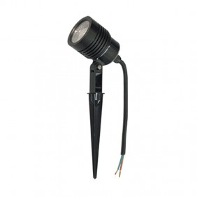 LED spotlight with tip for the garden we can provide and advise 6W 4200K Black 400936C