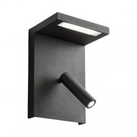 Appliques Refaire AGOS 6W+3W avec prise USB 3000K Noir 01-1500