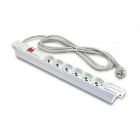 Bar power Rack Fanton, horizontal, 6 Sockets and switch 23201