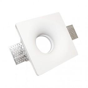 Faretto in gesso Poliplast quadrato per lampade GU10 120x120mm 400954