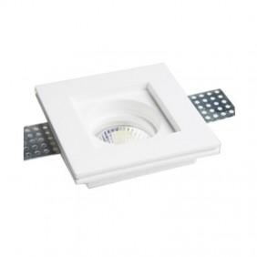 Faretto in gesso Poliplast quadrato per lampade GU10 100x100mm 400721