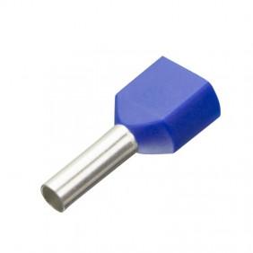 Tubetto doppio Cembre terminale preisolato 2X2,5mmq 10mm pezzi 100 PKT2510