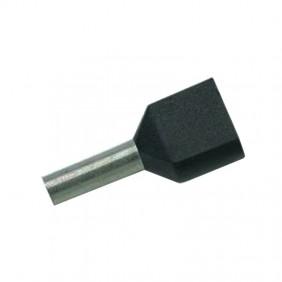 Tubetto doppio Cembre terminale preisolato 2X1,5mmq 8mm pezzi 100 PKT1508