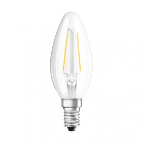 Lampadina Oliva filamento a LED Osram 2,1W 2700K attacco E14 PRCB25827CE1G6