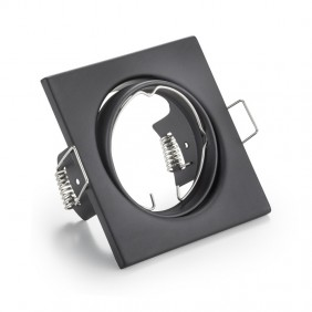 Downlight square recessed adjustable we can provide and advise GU10 color Black 400619NE-GU10