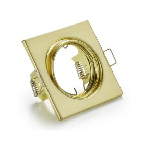 Downlight square recessed adjustable we can provide and advise GU10 color GOLD 400619OR-GU10