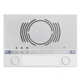 Frontalino Urmet Alpha per posto esterno audio con 2 tasti Bianco 1168/132W