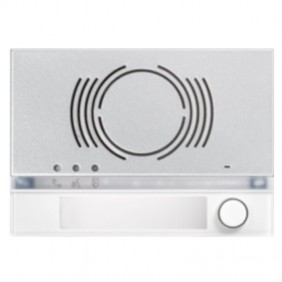 Frontalino Urmet Alpha per posto esterno audio con tasto Bianco 1168/131W