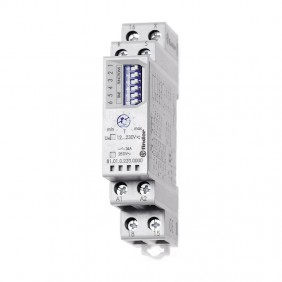 Temporizzatore Finder multifunzione modulare 12-230V 810102300000