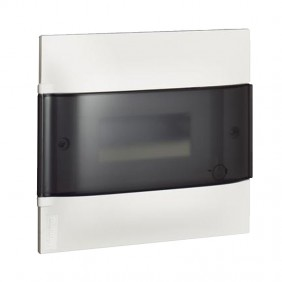 Switchboard recessed Bticino Line Habita 8 Modules smoky White E315P8