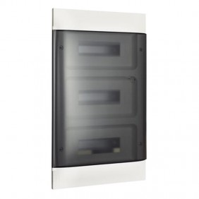 Switchboard recessed Bticino Line Habita 36 Modules Smoked White E315P36D3