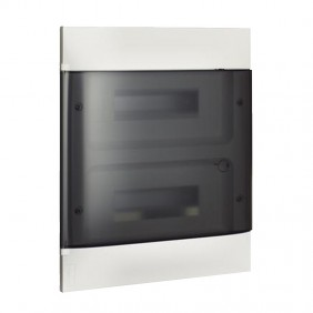 Switchboard recessed Bticino Line Habita 24 Modules smoky White E315P24