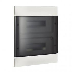 Switchboard recessed Bticino Line Habita 24 Modules smoky White E315P24