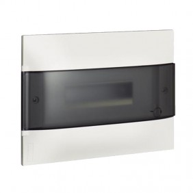 Switchboard recessed Bticino Line Habita 12 Modules smoky White E315P12