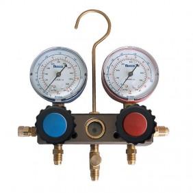 Gruppo Manometrico Tecnogas tipo 4 vie per Gas R407C-R410A-R32 11435