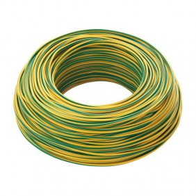 Cable FG17 1X6mmq 450/750V Green/Yellow 100 Metres