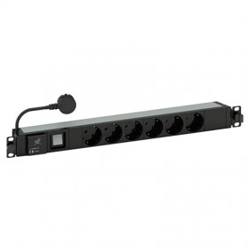 Bar power Bticino PDU 19 with 6 outlets and switch C915306CPL