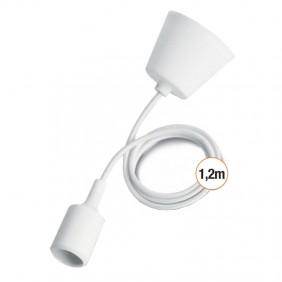 Wiva pendentif en plastique avec connexion E27 1,2 m Blanc 31501114