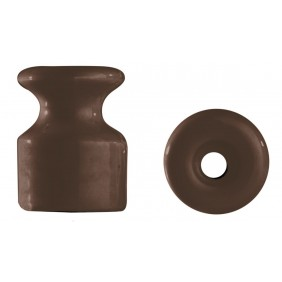 Insulators Gambarelli porcelain brown with screws, and external 01202