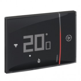 Thermostat Connected Bticino WIFI SMARTHER 2 recessed Black 230V XG8002