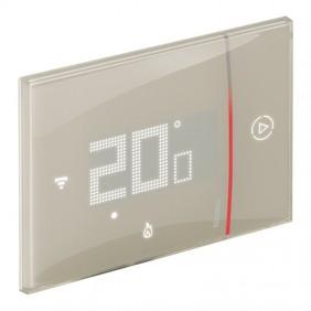 Thermostat Connecté Bticino WIFI SMARTHER en retrait de Sable 230V XM8002