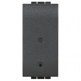 The module Socket is Connected Bticino Living Light Anthracite color L4531C