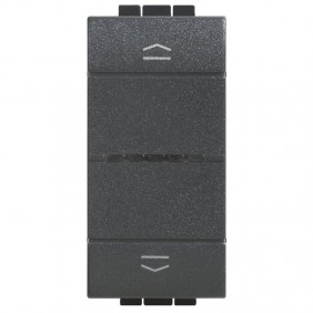 Command Shutters Connected Bticino Living Light Anthracite color L4027C
