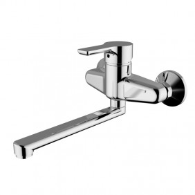 Single lever sink mixer wall-Teorema GOODLIFE Chrome 86500110041
