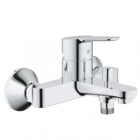 Mixer tap for Bath and Shower Grohe BAUEDGE wall mounted Chrome 23334000