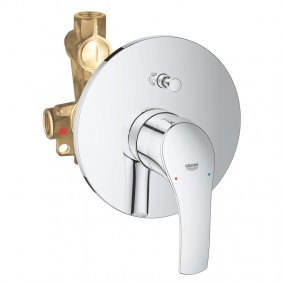 Mixer tap for Bath and Shower Grohe EUROSMART flush mounted Chrome 33305002