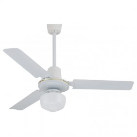 Ceiling fan Melchioni white 120 cm with light with controller 118620028