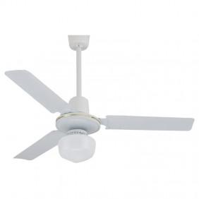 Ventilatore da soffitto Melchioni Bianco 120 cm con luce 118620036