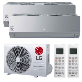 Air conditioner Dual Split LG ARTCOOL MIRROR SILVER 9000+9000BTU WIFI R32++/A+