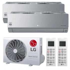Climatizzatore Dual Split LG ARTCOOL MIRROR SILVER 9000+9000BTU WIFI R32 A++/A+