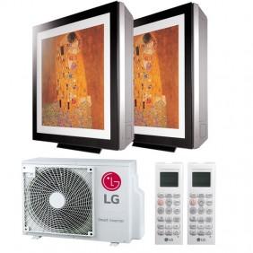 Acondicionador de aire de Doble Split LG ARTCOOL GALERÍA de 9000+9000BTU WIFI R32++/A+