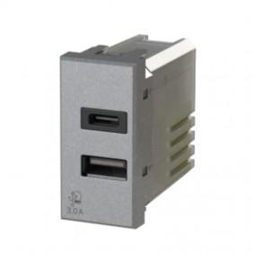 USB socket 4Box 3.0A for Bticino Axolute Tech series 4B.HC.USB.30