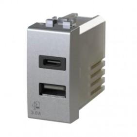 Presa USB 4Box 3.0A per serie Bticino LivingLight Tech 4B.NT.USB.30
