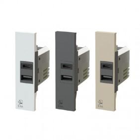 4Box 3.0A USB socket for Bticino Living Now series 4B.K.USB.30